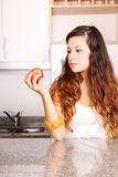 Young woman with a Apple Royalty Free Stock Photos