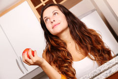 Young woman with a Apple Stock Photos