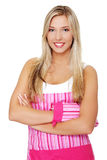Young woman in apron Stock Photography