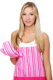 Young woman in apron Stock Images