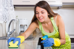 Young  woman in apron Stock Photos