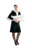 Young woman architect full length Royalty Free Stock Photos