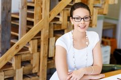 Young woman architect in office Stock Image