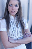 Young woman arms crossed Royalty Free Stock Photo