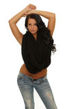 Young woman with arms up Stock Photos