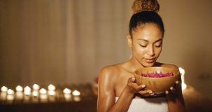 Young Woman And Aromatherapy Stock Photos