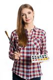 Young woman the artist. Stock Image