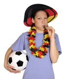 Young woman as soccer fan Royalty Free Stock Image