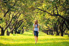 Young Woman At Park Stock Images