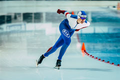 Young woman athlete speed skaters Stock Photography