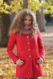 Young woman with autumn leaves Stock Photos