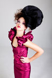 Young Woman in Avant Garde Attire Royalty Free Stock Photography