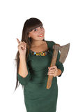 Young woman with ax Stock Photos