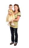 Young woman with baby Stock Images