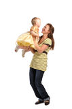 Young woman with baby Royalty Free Stock Image