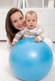 Young woman and baby Stock Image