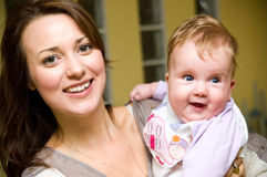 Young woman with baby girl Royalty Free Stock Photos