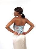 Young Woman from Back. Young Black Woman Fashion Shot from Back Royalty Free Stock Photo