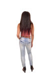 Young woman from back. Stock Image