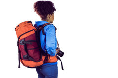 Young woman with backpack Royalty Free Stock Image