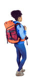 Young woman with backpack Royalty Free Stock Photo