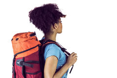 Young woman with backpack Royalty Free Stock Photography