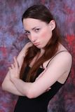 Young woman in bad mode Royalty Free Stock Photo