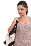 Young woman with bag Royalty Free Stock Photos