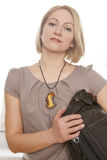 Young woman with a bag Royalty Free Stock Photo