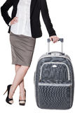 Young woman with baggage Royalty Free Stock Photography