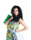 Young woman with bags Stock Photography