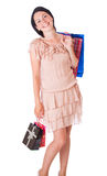 Young woman with bags Royalty Free Stock Images