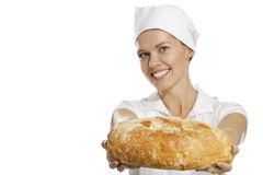 Young woman baker Royalty Free Stock Photography