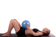 A young woman with a ball Stock Photography