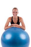A young woman with a ball Royalty Free Stock Photo