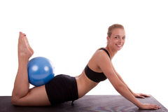 A young woman with a ball Stock Photos