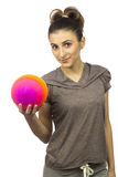 Young  woman with a ball Royalty Free Stock Photography