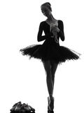 Young woman ballerina ballet dancer dancing Stock Images