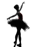Young woman ballerina ballet dancer dancing silhouette Royalty Free Stock Photography