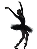 Young woman ballerina ballet dancer dancing silhouette Stock Photo