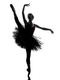 Young woman ballerina ballet dancer dancing silhouette Stock Image