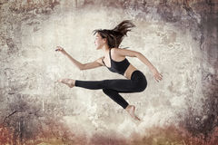 Young woman ballet dancing Royalty Free Stock Image