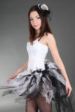 Young woman in ballet dress Stock Photography