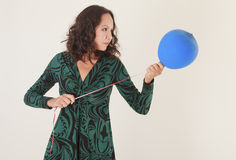 Young woman with balloon Royalty Free Stock Photo