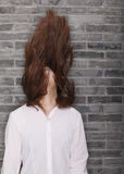 Young Woman Banging Head Royalty Free Stock Photos