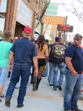 Young woman with bare back during Sturgis, SD 77th Rally royalty free stock photography