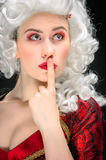Young woman in baroque custome Stock Image