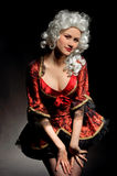 Young woman in baroque custome Royalty Free Stock Image