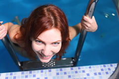 Young Woman In Basin Royalty Free Stock Photography