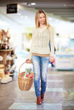 Woman in a store Royalty Free Stock Image